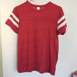 Alternative Apparel Red Short Sleeve Tee Shirt